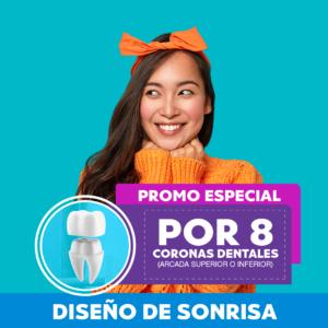 Smile makeover: Promoción por 8 coronas dentales.